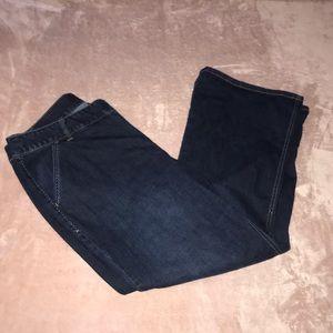 LANE BRYANT• denim wideleg trousers